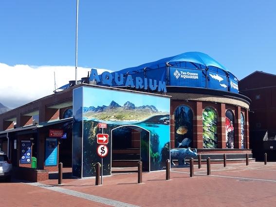 Exterior view of the Two Oceans Aquarium, Cape Town