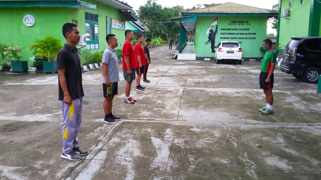 Personil Kodim 1420 Berikan Pembinaan terhadap Peserta Calon Prajurit TNI