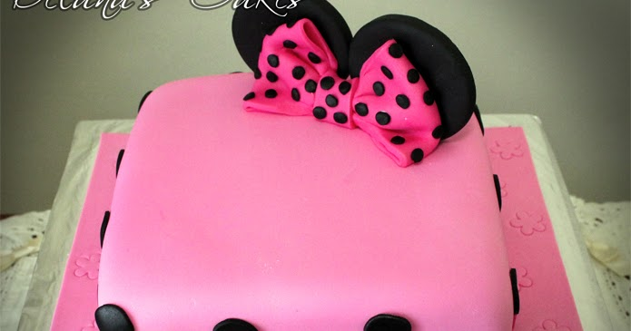 Delana S Cakes Minnie Mouse Square Cake