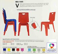 V Chair MS999 Pembekal Kerusi Plastik V Chairs Utama Malaysia