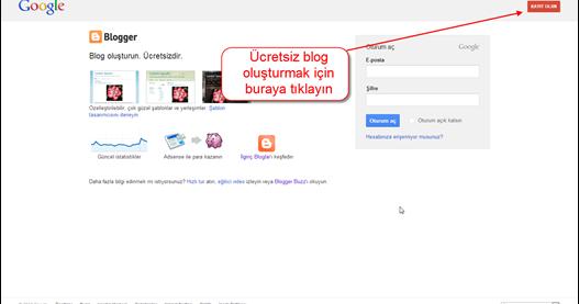 blogger üyelik yapma görseli