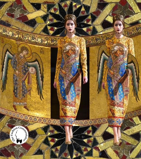 Dolce e Gabbana - Fall Winter 2013 - Arcangelo (Abside Duomo di Cefalù)