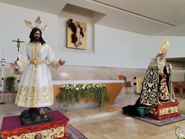 Bendecidos el Señor del Consuelo y la Virgen del Rosario de Sevilla Este