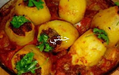 طريقة البطاطس المحشيه لحمه مفرومه