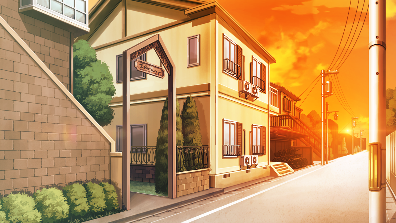 House anime background