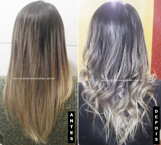 Antes e depois usando Magic Color Power