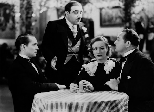 Franchot Tone, Akim Tamiroff, Joan Crawford and Edward Arnold in Sadie McKee (1934)