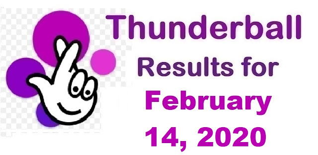 Thunderball Results for Friday, February 14, 2020