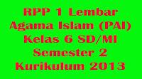 rpp agama islam kelas 6