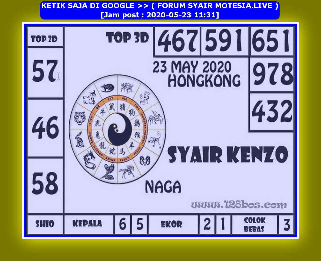 Kode syair Hongkong Sabtu 23 Mei 2020 202