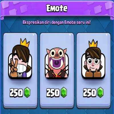 cara mendapatkan emote di clash royale