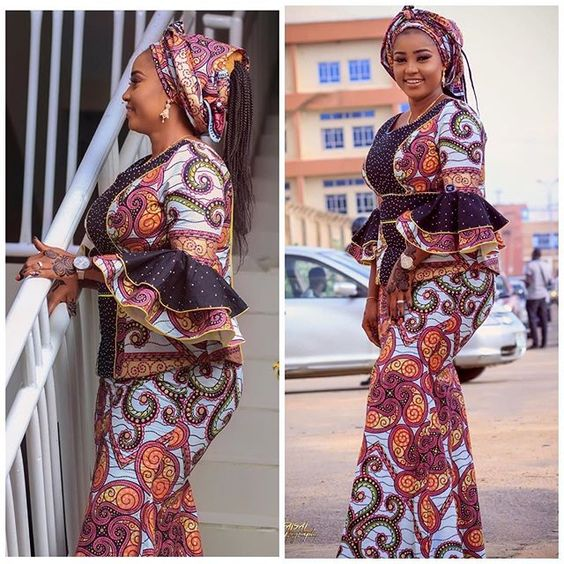 Creative Ankara Skirt and Blouse
