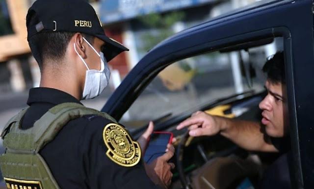 Registro de infractores en Estado de Emergencia