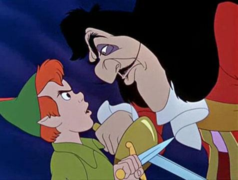 Peter Pan y James Garfio - Cine de Escritor