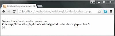 Variabel global dan variabel local di PHP