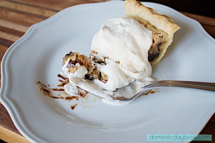 Kentucky Derby Pie with whipped cream