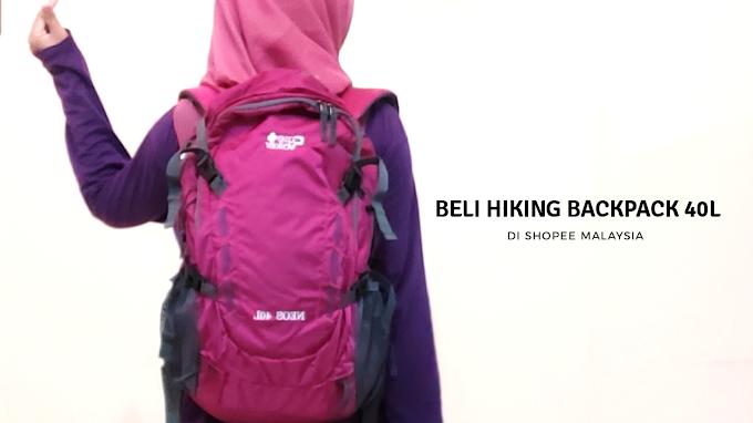 Beli Hiking Backpack 40L di Shopee Malaysia