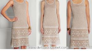 Patrones Crochet de Vestido Calado