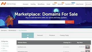 namecheap marketplace domains for sale