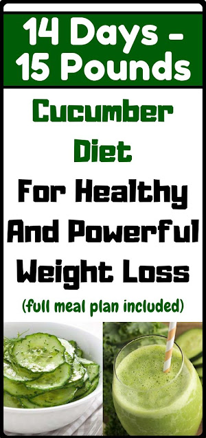 Cucumber Diet For Weight Loss: Lose 15 Pounds In 14 Days!