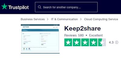 trustpilot review keep2share.cc