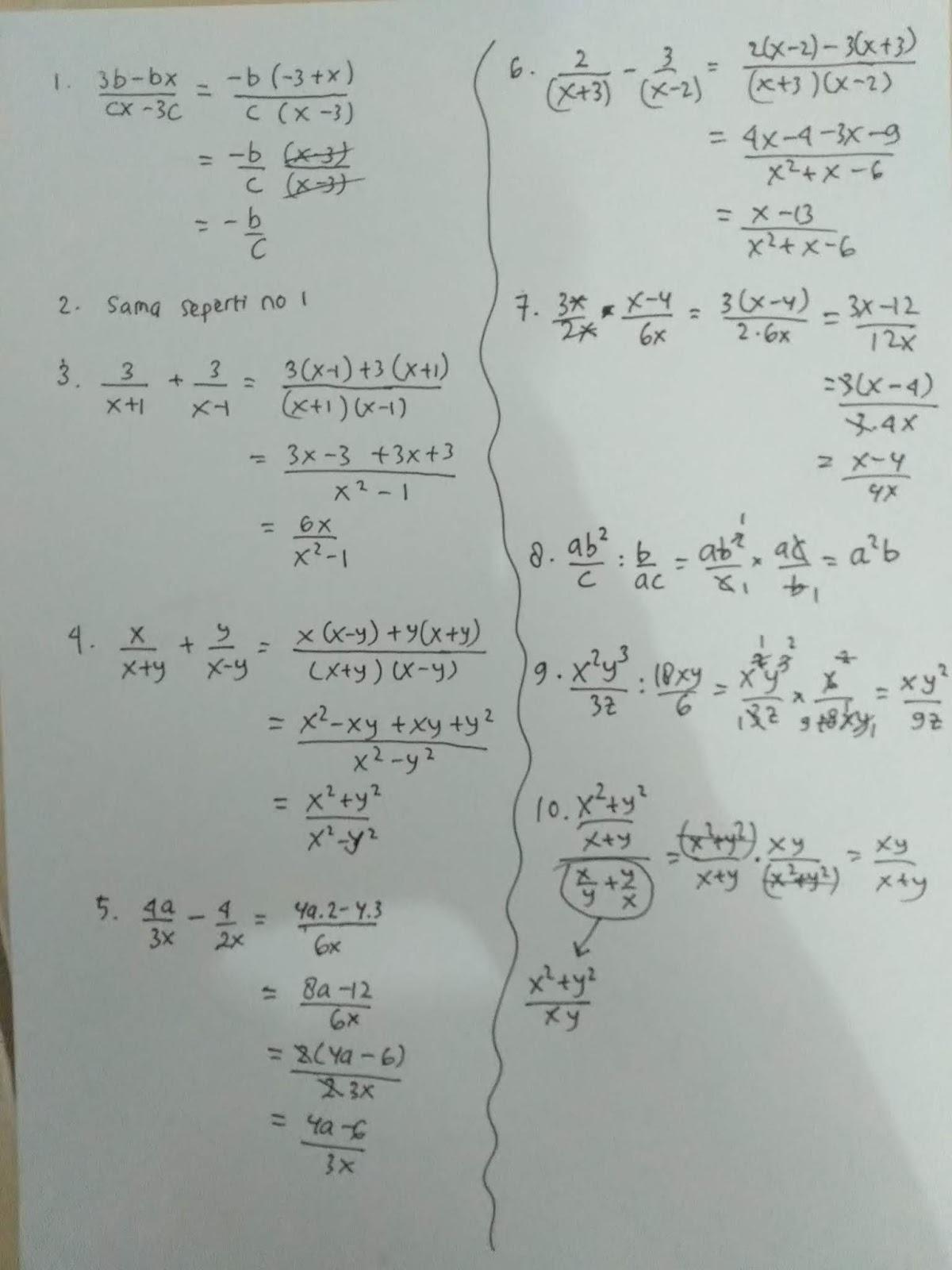 Kunci jawaban mari belajar matematika kelas 5 halaman 15 evaluasi diri 4. Soal Dan Jawaban Ayo Berlatih 3 5 Aljabar Matematika Kelas 7 Halaman 238 M4thguru