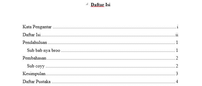 bagaimana cara membuat daftar isi di microsoft word 2016