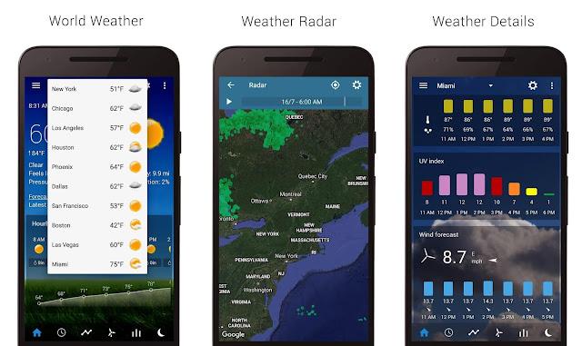 افضل تطبيقات الطقس