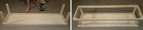 Make a rectangular box of frame
