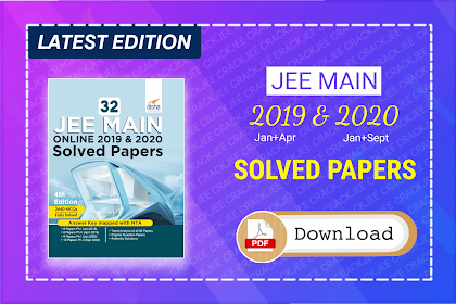 Download 32 JEE Main Online 2019 & 2020 Solved Papers   Disha eBook Pdf