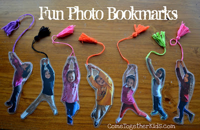 Bookmarks made with kids photos