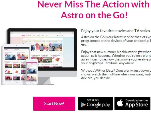 Apa itu Astro On The Go, cara tengok Astro On The Go, cara menonton astro on the go, cara guna astro on the go, muat turun / download aplikasi Astro On The Go, gambar Astro On The Go