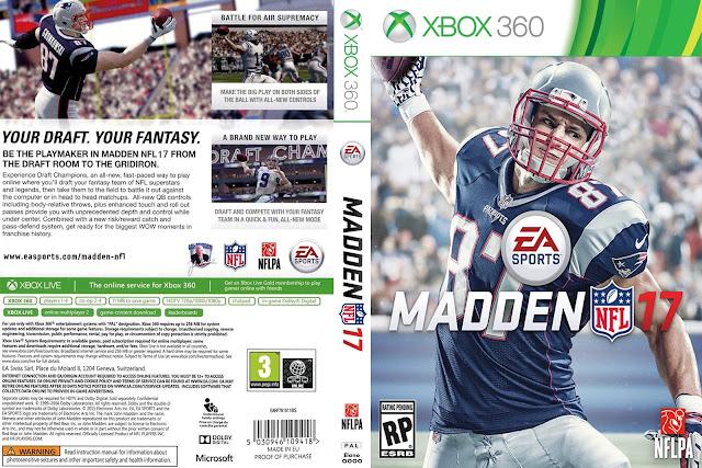 Capa Madden NFL 17 Xbox 360