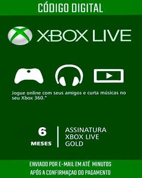Xbox Live Gold Brasileira 6 Meses de Assinatura