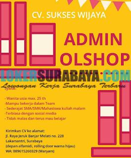 Bursa Kerja Terbaru di CV. Sukses Wijaya Surabaya Mei 2019