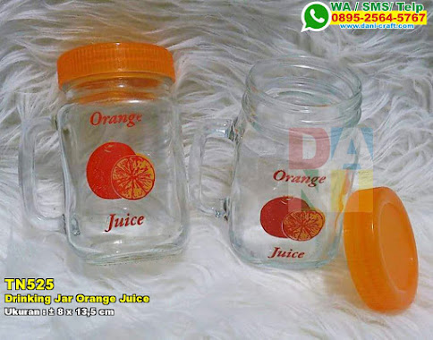 Drinking Jar Printing Orange Juice