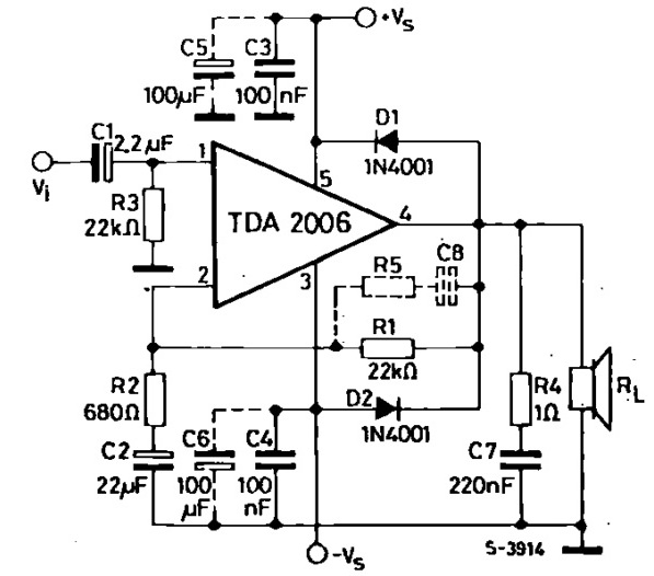 dictionary of electronic components  tda2006