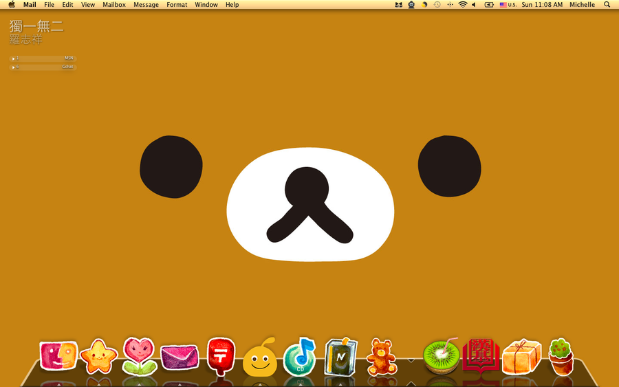 RiLaKKuMa DeSKToP WaLLPaPeR WiTH ReD LiTTLe SHoeS ICoN SeT