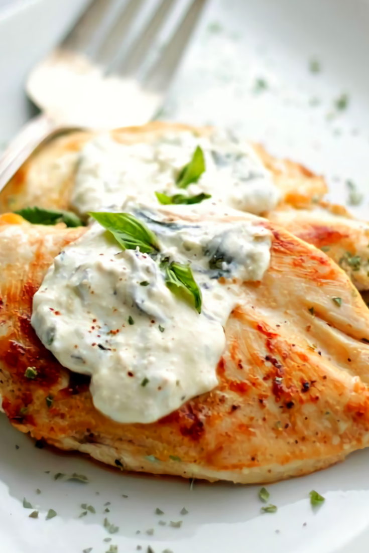 Basil-Feta Sauce Chicken Recipe