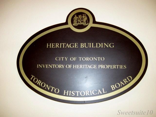 Heritage Toronto Plaque