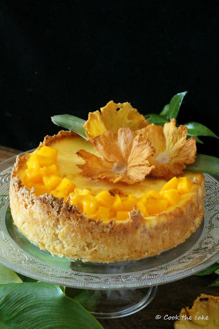 tropical-cheesecake, pineapple-coconut-mango-cheesecake