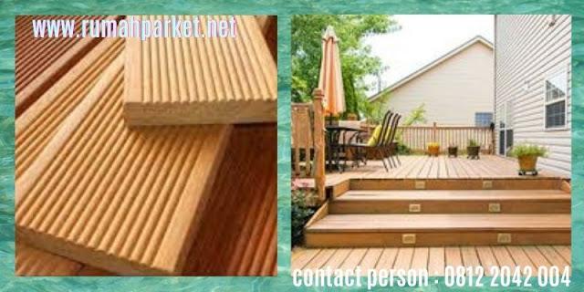 jenis Lantai Kayu Solid Outdoor - decking kayu bengkirai
