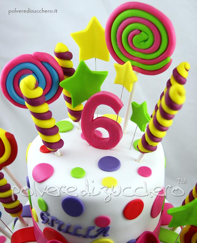 candy cake la torta decorata con le caramelle in pasta di