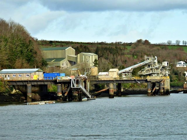China Clay works on Fowey River, Cornwall