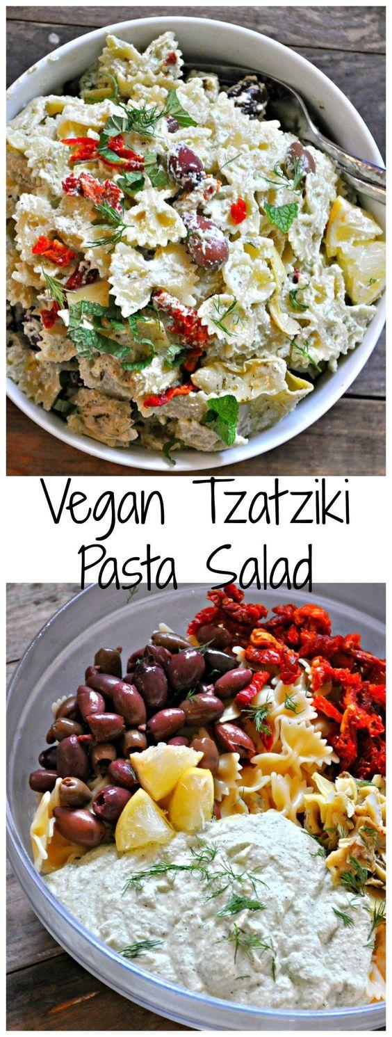 Vegan Tzatziki Pasta Salad