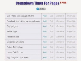 countdown timer for facebook timeline