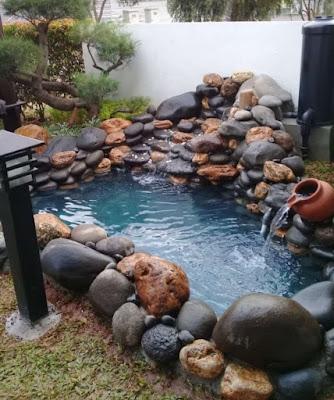 Kolam batu kali alam - SuryaTaman