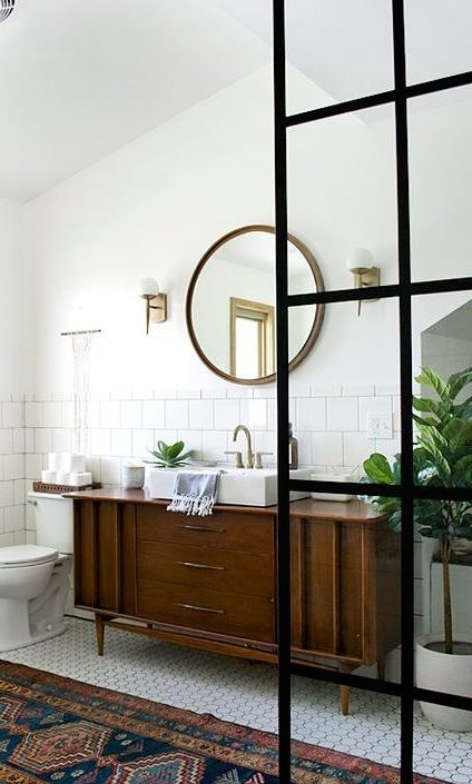 scandinavian bathroom decor idea