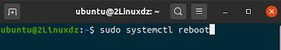 sudo systemctl reboot
