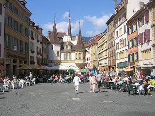 La Place Pury à Neuchâtel